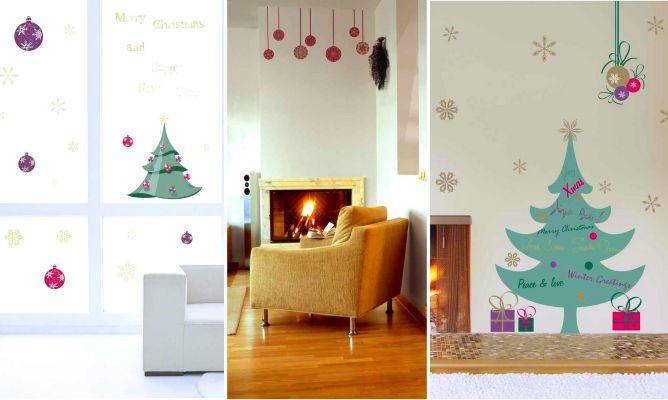 Stickers adhesivos decorativos de navidad hogarmania - Stickers decorativos ...