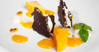 Chocolate con mango y queso de maracuy�