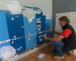 Cubrir pared con piedra artificial decorativa