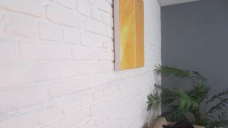 Cubrir pared con piedra artificial decorativa