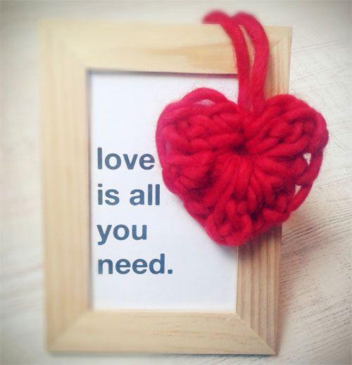tejer corazón de crochet o ganchillo