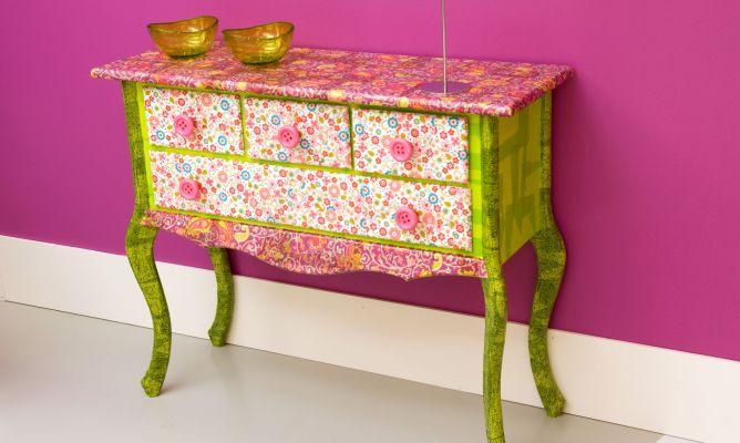 Mueble decoupage decogarden - Decoupage con servilletas en muebles ...