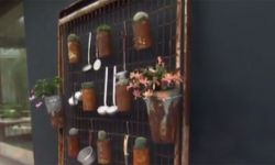 Jardín vertical de estilo oxidado