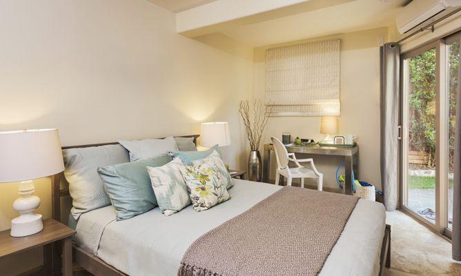 Dormitorios luminosos en colores tierra