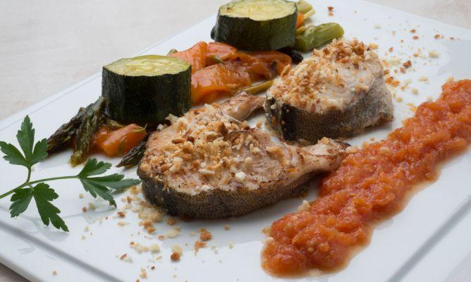 Receta de bacalao fresco con hortalizas asadas karlos - Bacalao fresco con tomate ...