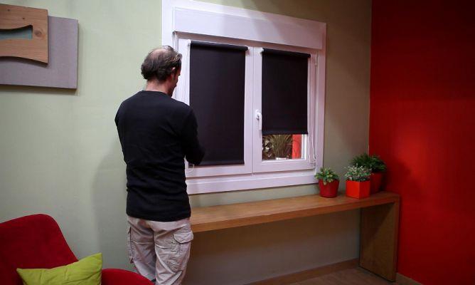 Estor para ventanas abatibles bricoman a - Colocar estores enrollables ...