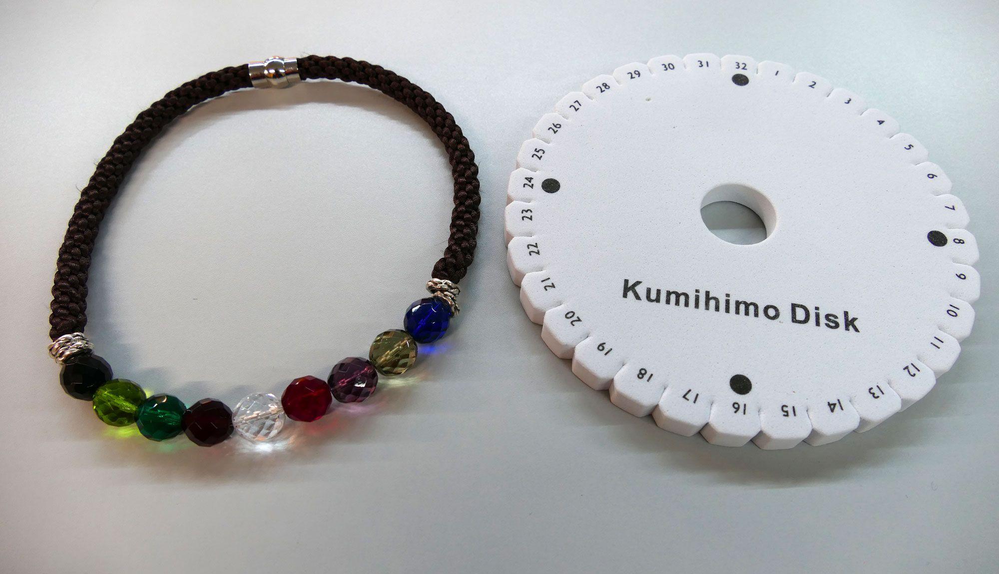308aa2f44299 Collar Kumihimo con cuentas de cristal - Hogarmania