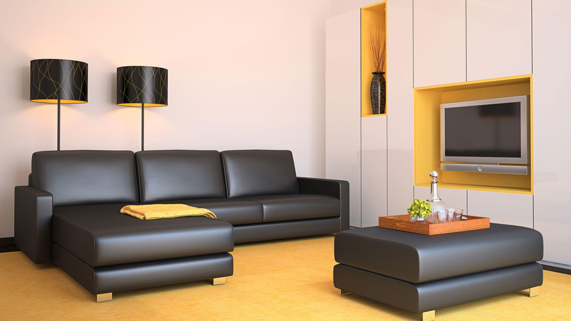 C mo combinar un sof negro hogarmania for Sofa gris como pintar las paredes