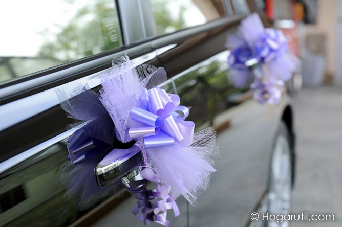 C mo decorar el coche para una boda antes de la boda for Decorar con lazos