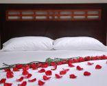 Decoración de camas en San Valentín