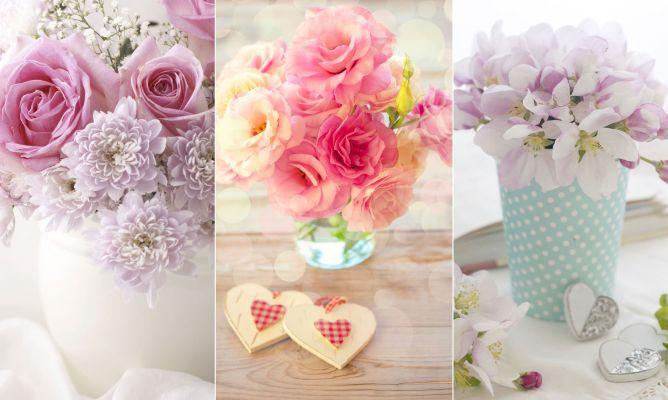 decoracin de centros de flores romnticos