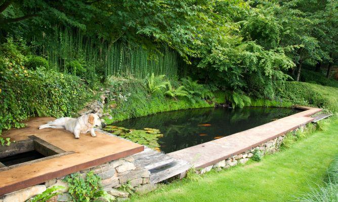 jardn con estanque parte 2 decogarden - Estanques Jardin