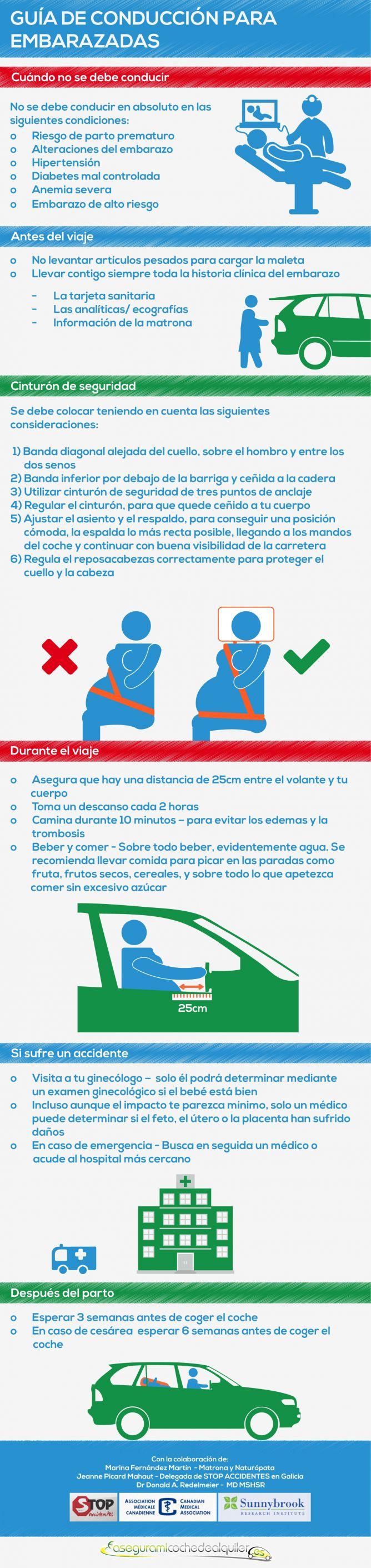 guía conducción embarazo