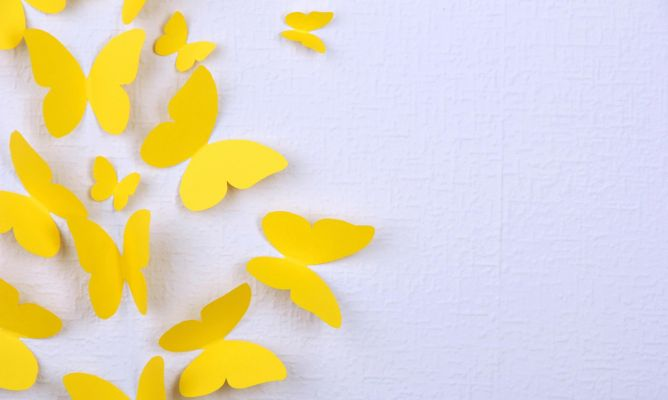 Mariposas De Papel Para Decorar La Pared Hogarmania
