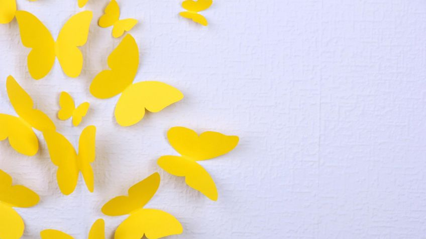 Mariposas de papel para decorar la pared