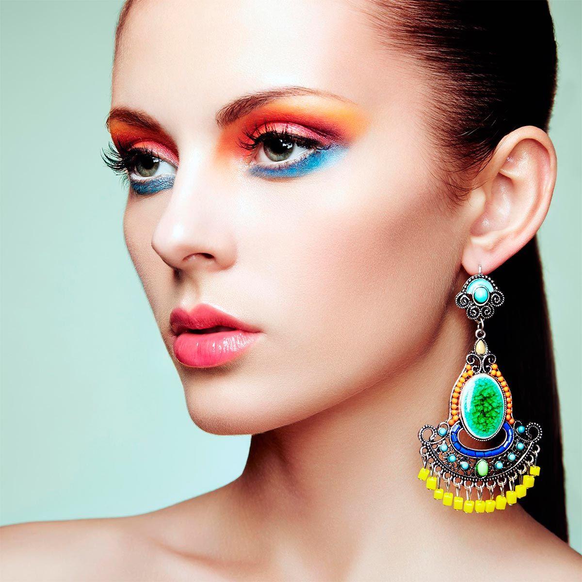 pendientes maquillaje colores