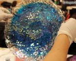 decorar platos con pintura bubble - paso 4