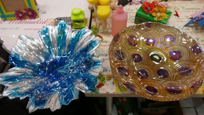 Decorar cristal con pintura bubble