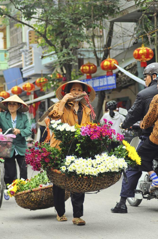 Vendedores flores