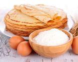 Crepes rellenos de berenjena, queso y pavo, recomendado para los niños