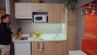 Fijar panel de led en cocina