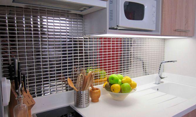 Mosaico en frente de cocina bricolaje bricoman a - Frente cocina cristal ...
