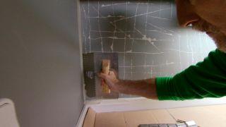 Mosaico en frente de cocina