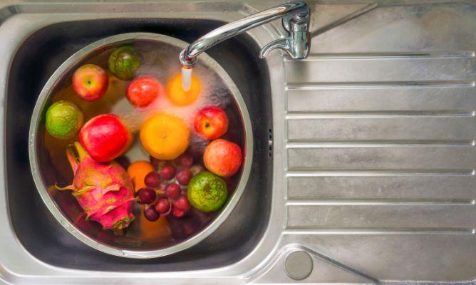 lavar correctamente las frutas y verduras