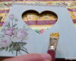 decorar portafotos vintage decoupage - paso 7