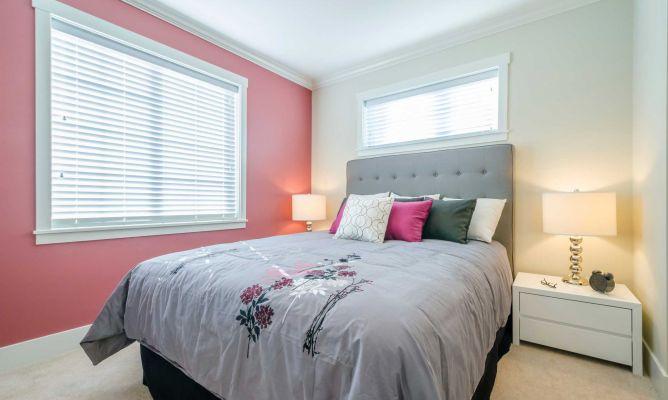 Dormitorio femenino en rosa gris y blanco hogarmania - Color pintura habitacion ...