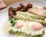 Huevos al salmorrejo
