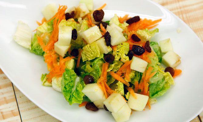 ensalada de pepino zanahoria y manzana