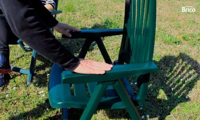 Recuperar silla de pl stico bricoman a for Bordillos de plastico para jardin