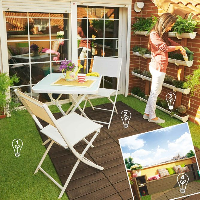 Ideas para decorar una terraza de 8m2