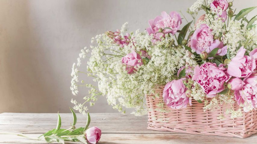 Cestas de mimbre para arreglos florales - Decogarden