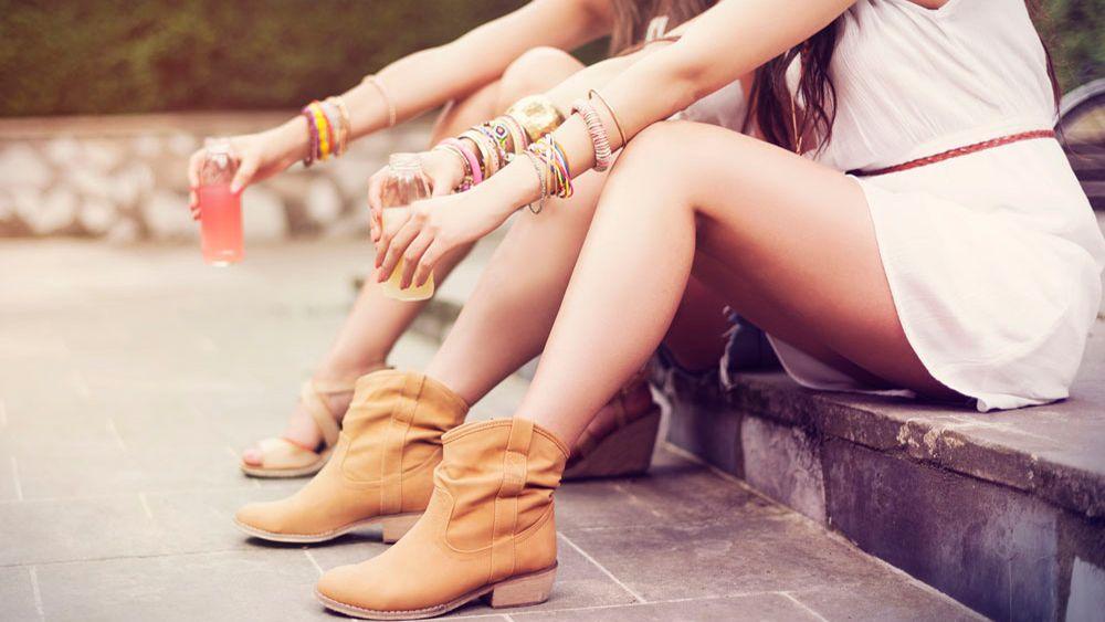 estilo boho chic calzado