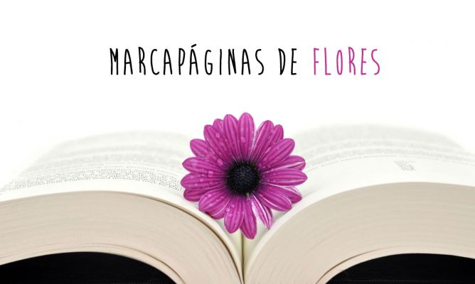 Marcapáginas de flores descargables