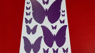 Mariposas de papel para decorar la pared paso 1