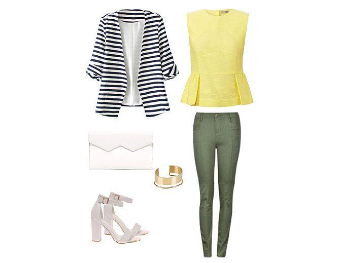 moda a rayas - look 1