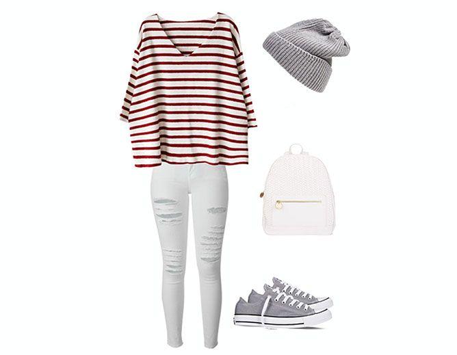 moda a rayas - look 6