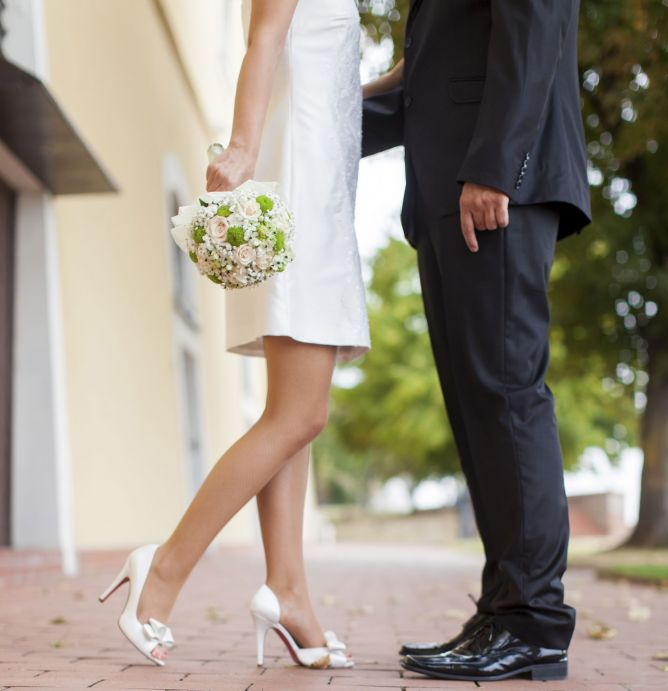 vestidos cortos novia