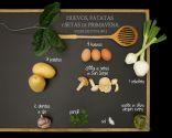 Huevos, patatas y setas de primavera - Ingredientes