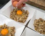 Huevos, patatas y setas de primavera - Paso 4