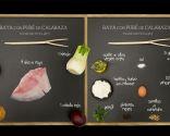 Raya con puré de calabaza - Ingredientes