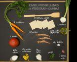 Canelones rellenos de verduras y gambas - Ingredientes