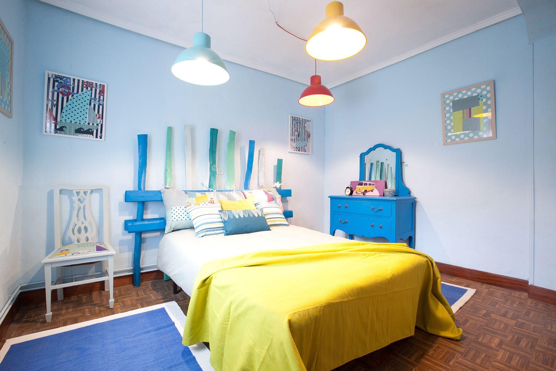 dormitorio fresco colorido