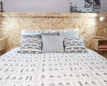 cabecero cama virutas
