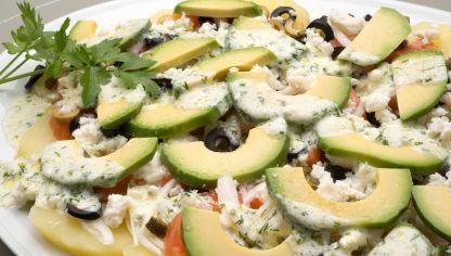 Receta de ensalada de patata aguacate y huevo karlos - Ensalada de aguacate y salmon ahumado ...