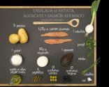 Ensalada de patata, aguacate y salmón ahumado