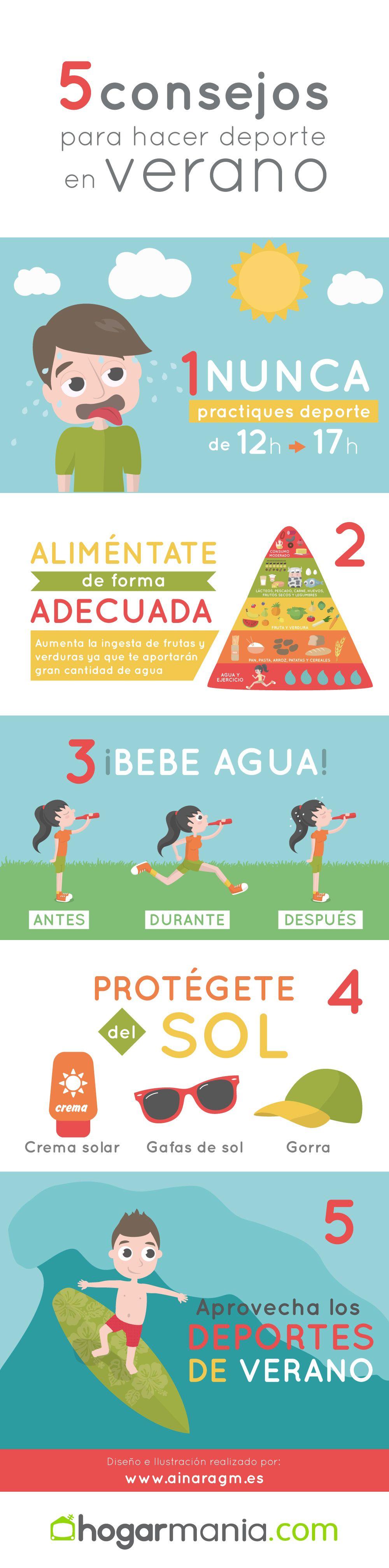infografía deporte verano